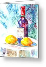 Lemons And Wine And A Little Sunshine Greeting Card