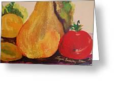 Lemons Pears Apples Greeting Card