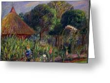 Lenna By A Summer House Greeting Card by William James Glackens