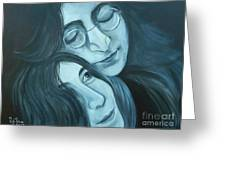 Lennon And Ono Greeting Card