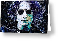 Lennon Greeting Card by Chris Mackie