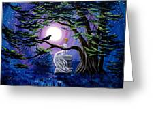 Lenore By A Cypress Tree Greeting Card
