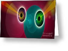 Lens Face Greeting Card