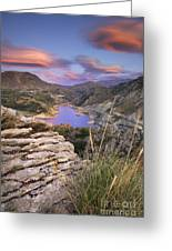 Lenticular Clouds At Canales Lake Greeting Card