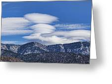 Lenticular Clouds Forming 493 Greeting Card