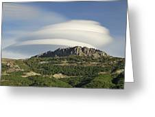 Lenticular Clouds Over Dornajo Mountain Greeting Card