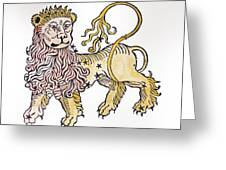 Leo An Illustration From The Poeticon Greeting Card