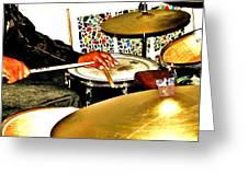 Leo Drumming Greeting Card