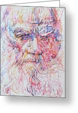 Leo Tolstoy/ Colored Pens Portrait Greeting Card