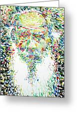 Leo Tolstoy Watercolor Portrait.1 Greeting Card
