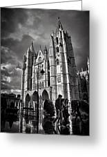Leon Cathedral Greeting Card