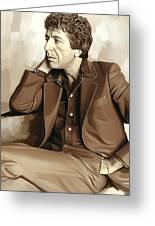 Leonard Cohen Artwork 2 Greeting Card