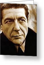 Leonard Cohen Artwork Greeting Card