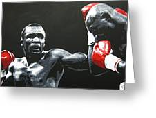 Leonard Vs. Hagler 2 Greeting Card
