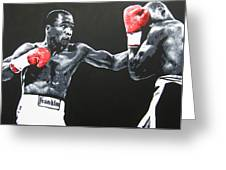 Leonard Vs Hagler Greeting Card