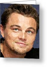 Leonardo Dicaprio Portrait Greeting Card