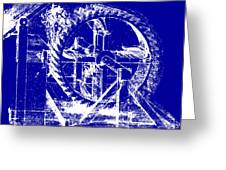 Leonardo Machine Blueprint Greeting Card