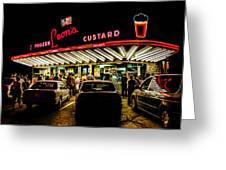 Leon's Frozen Custard Greeting Card by Scott Norris