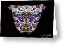 Leopard Heart Bowl Greeting Card