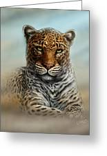 Leopard In The Mist Greeting Card