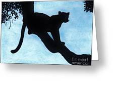 Leopard - Silhouette Greeting Card