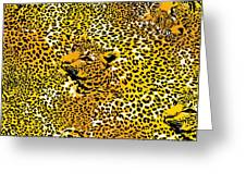 Leopard Texture Greeting Card
