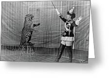 Leopard Trainer, C1906 Greeting Card