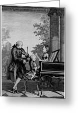 Leopold Mozart And His Two Children Greeting Card