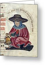 Leper With Bell Greeting Card
