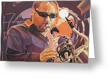 Leroi Moore Purple And Orange Greeting Card