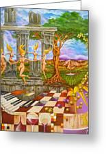 Les Amours Hallucines De La Vigne Et Du Pin Parasol Greeting Card