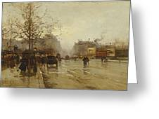 Les Boulevards Paris Greeting Card