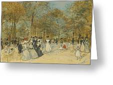 Les Champs-elysees Greeting Card