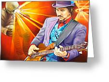 Les Claypool's-sonic Boom Greeting Card by Joshua Morton