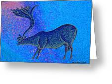 Les Combarelles Reindeer  Greeting Card