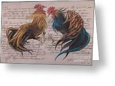 Les Deux Coqs Greeting Card