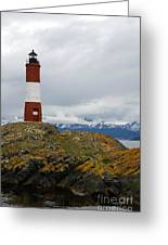 Les Eclaireurs Lighthouse Southern Patagonia Greeting Card