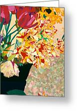 Les Fleur Greeting Card