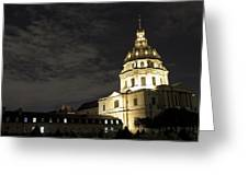 Les Invalides - Eglise Du Dome At Night - 2 Greeting Card