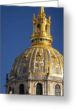 Les Invalides Dome Greeting Card