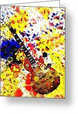 Les Paul Retro Abstract Greeting Card