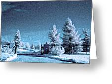 Let It Snow Blue Version Greeting Card