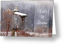 Let It Snow - Bluebirds Greeting Card