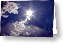 Let The Sun Shine In Greeting Card by Andrea Dale