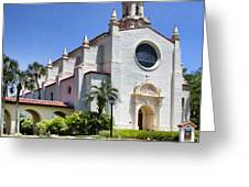 Let There Be Light Knowles Memorial Chapel 1 By Diana Sainz Greeting Card