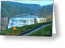 Letchworth Middle Falls Lights Greeting Card