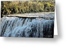 Letchworth State Park Middle Falls In Autumn Greeting Card