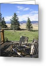 Let's Sit And Talk Awhile By Yellowstone Greeting Card
