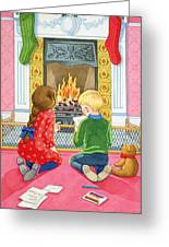 Letter To Father Christmas Greeting Card by Lavinia Hamer