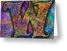 Letter W Greeting Card